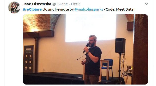 reClojure - Malcolm Sparks - Code meet data